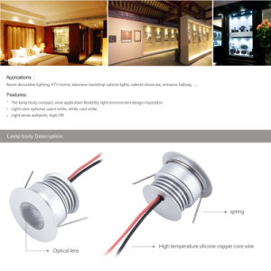 3W 12V 24V LED Down Light for Interior Home Lamp pictures & photos