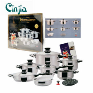 Amazon Vendor 17PC Stainless Steel Cookware Set Dishwasher Safe pictures & photos