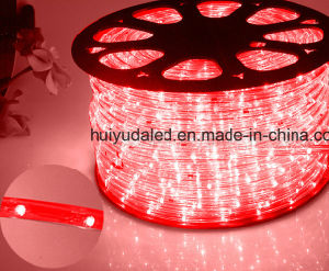 Round Two Wires Red Color 30LEDs 2W/M LED Rope Light/Outdoor Light/LED Strip Light/Neon Light/Christmas Light/Holiday Light/Hotel Light/Bar Light LED Strip pictures & photos