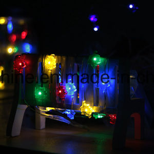 Orange Maple Leaf Shape Lights Dimmable USB Low Voltage Indoor LED String Lights pictures & photos