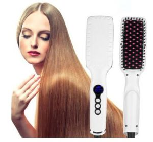 High Quality LCD Display Hair Straightener Brush pictures & photos