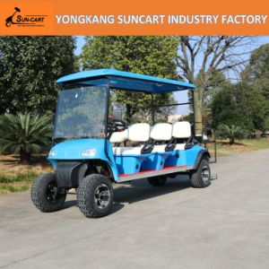 Electric Golf Carts, 8 Seater, with Rear Flip Flop Seat, Ry-Ez-801A, 6+2 Mini Sightseeing Bus, Electric Cart in Airport pictures & photos