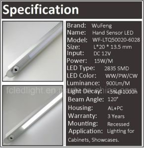 Recessed Linear Hand Sweep Sensor LED Kitchen Cabinet Lamp pictures & photos