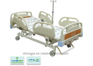 Sjb302mc Luxurious Hospital Bed with Three Revolving Levers pictures & photos