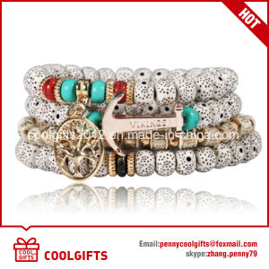 Fashion Bohemian Style Beads Bracelet with Anchor Pendent pictures & photos