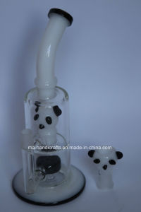 Bent Neck Glass Smoking Water Pipe with Panda pictures & photos