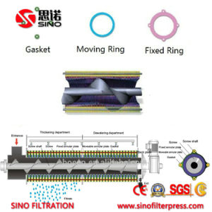 Oily Wstewater Sludge Dewatering Moving Plate Screw Press Filter pictures & photos