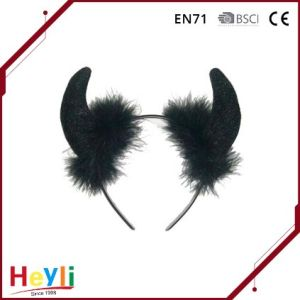 Classic Black Decorative Devil Horn Headband Party Hairbands Headwear pictures & photos