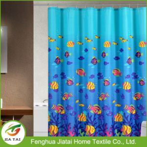 Custom 100% Polyester Sea Fish Kids Shower Curtain pictures & photos