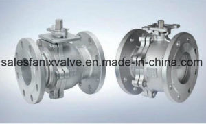 DIN Flanged Ball Valve (FLOATING BALL) pictures & photos