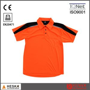 Custom Short Sleeve 100% Polyester Safety Mens Polo Shirt pictures & photos
