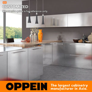 2017 Hot Sale Modern Stainless Steel Kitchen Furniture Modular Kitchen Cabinet (OP17-S30) pictures & photos