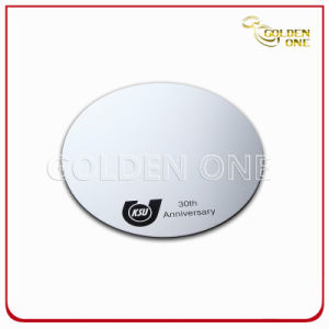 Screen Print Anodized Silver Round Shape Aluminium Coaster pictures & photos