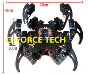 Aluminium Hexapod Spider Six 3 Dof Legs Robot Frame Kit + Clamp Set Fully Compatible with Arduino pictures & photos