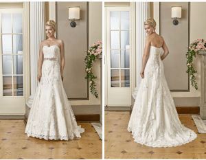 Fit and Flare Talior Made UK/Germany Wedding Dress pictures & photos