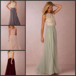 Lace Formal Prom Pageant Gowns Tulle Bridesmaid Evening Dress Te521 pictures & photos