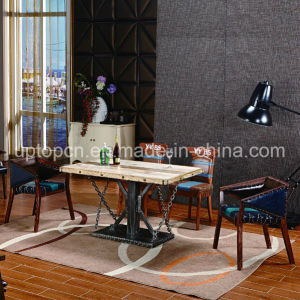 Rectangle Wooden Desktop Bistro Restaurant Table with Metal Leg (SP-RT542) pictures & photos