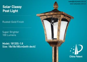 Solar Glassy Post Light -18120s-1.8 pictures & photos