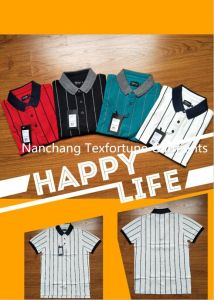 Men′s Stripes Polo-Shirt