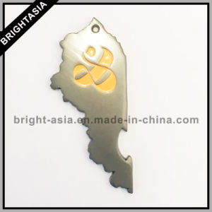 Metal Key Chain with Bottle Opener with Epoxy (BYH-101182) pictures & photos
