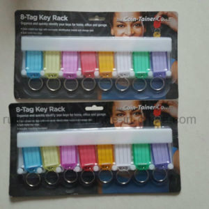 Wholesale Supermaket Plastic Key Tag, Name Key Tags, ID Card Key Chain pictures & photos