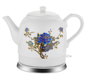 Chinese Style Ceramic Tea Kettle with Beautiful Flower Printing Can Change Color with The Temperature pictures & photos