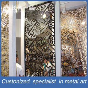 Factory Supplier Office Partition Screen PVD Color Metal Room Divider pictures & photos