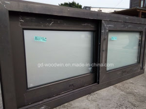 Woodwin Factory Price Double Tempered Glass Aluminum Sliding Window pictures & photos