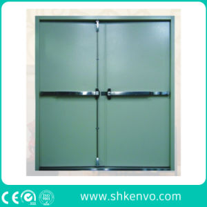 UL and Ce Certified Fire Rated Metal Door with Panic Device pictures & photos