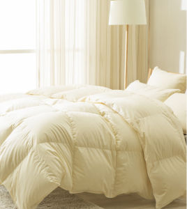 Super Silk Cover 100% White Goose Down Duvet for Home pictures & photos