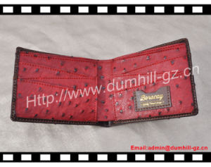 New Bifold Custom PU Ostrich Wallet for Men pictures & photos