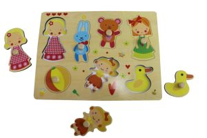 Hot Chirstmas Gift Wooden Girl Playing PuzzleToy for Kids and Children pictures & photos