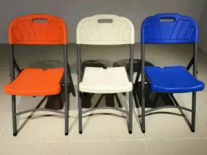 Modern Plastic Outdoor Office Chair with Metal Frame pictures & photos