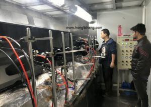 Turnkey Automatic PU Clear Coat Helmet Spray Coating Paint Line pictures & photos