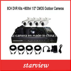 "8CH DVR Kits +800tvl 1/3"" CMOS Outdoor Cameras pictures & photos"