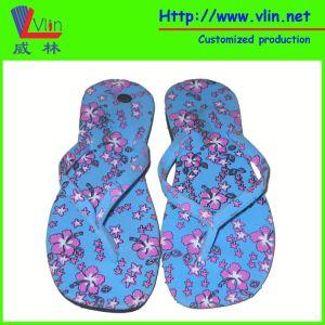 Printed EVA Strap Women′s Sandals/Flip Flops pictures & photos