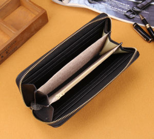 Zipper Lady Woman Long Clutch Leather Wallet pictures & photos