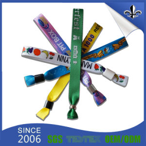 ID Identification Polyester Fabric Wristband with Disposable Clip pictures & photos
