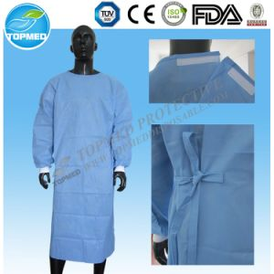 SMS Steriled Surgical Gown, Disposable SMS Reinforced Surgical Gown pictures & photos