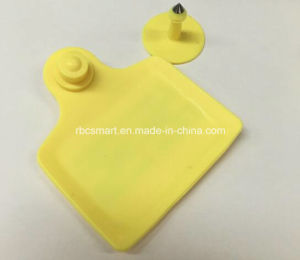 13.56MHz Premium Quality Plastic Passive RFID Chip Animal Ear Tags pictures & photos