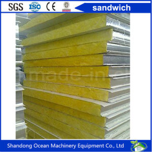Color Steel Sandwich Wall Panel Made of PPGI Sheet for Steel Structure Building pictures & photos