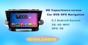 Android System Car DVD GPS Player for Highlander 9 Inch Touch Screen with Bluetooth/MP4 pictures & photos