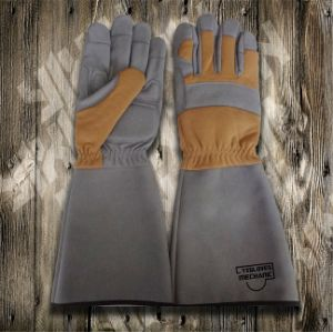 Long Garde Glove-Working Glove-Safety Glove-Synthetic Leather Glove-Labor Glove-Gloves pictures & photos