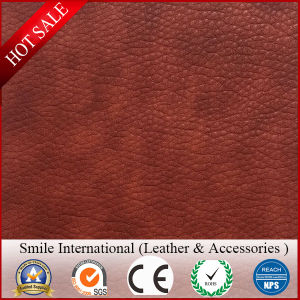 Double Tones Color Elastic PVC Material Sofa Handbags Leather Soft High Quality pictures & photos
