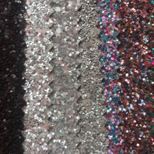 Shiny Glitter PU Leather for Bags Shoes Gift Box Making pictures & photos
