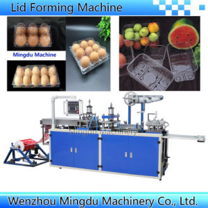 Plastic Flat Dome Lid Milk Coffee Lid Forming Machine (model-500) pictures & photos