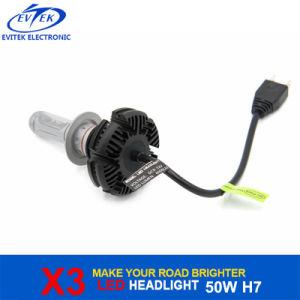 LED Lighting Bulb 50W 6000lm Philips X3 H7 LED Headlight Bulbs for Car Head Light 6000k pictures & photos