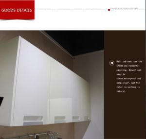 Salable Iris Modern Style Stoving Varnish Lacquer Kitchen Cabinet (CA01-01) pictures & photos