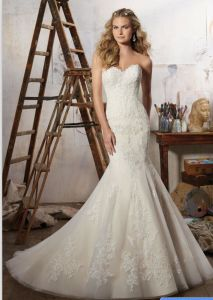 2017 Lace Mermaid Train Bridal Wedding Dress Wd1709 pictures & photos