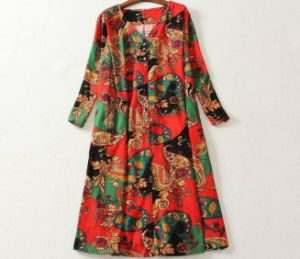 Printed Women`S Cotton Dress